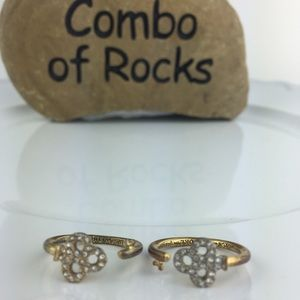 2 Juicy Couture Stackable Rhinestone Rings